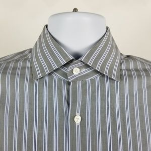 Hugo Boss Regular Fit Gray White Stripe 15.5 32/33